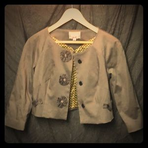 Adorable Anthropologie Vintage Style Grey Jacket